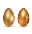 realistic easter eggs vector image