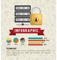 retro infographic design vector image
