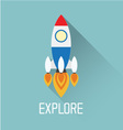 Rocket Symbol with explore concept vector image
