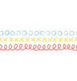 seamless doodle border vector image