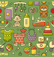 seamless pattern kids accessory toys and vector image vector image