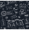 Seamless pattern with sale icons set vector image vector image