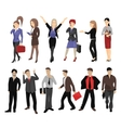 set full length portraits business people vector image