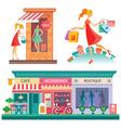 Shopping center vector image