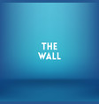 square blue blurred background wall vector image vector image