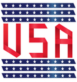 Stock Photo USA text ribbon style vector image vector image