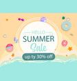 summer sale design banner abstract vector image