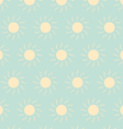 The Light Yellow Sun Pattern on Green Pastel Color vector image vector image