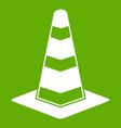 traffic cone icon green vector image vector image