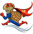 Turtle Superhero vector image vector image