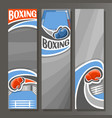vertical banners for boxing vector image vector image