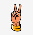 victory or peace symbol hand gesture vector image
