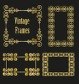 vintage golden frames collection vector image vector image