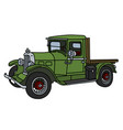 vintage green lorry vector image