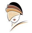 vintage woman in a hat vector image vector image