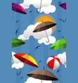 wallpaper colorful umbrellas vector image vector image