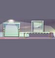 warehouse unloading platform roller vector image vector image