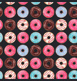 watercolor tasty donuts pattern vector image vector image