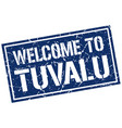 welcome to tuvalu stamp vector image vector image