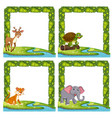wild animals in c vector image vector image