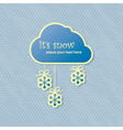 snow card vector image