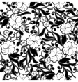 Black and white abstract floral background vector image