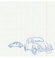 Retro Car Drawing vector image