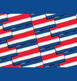 abstract costa rica flag or banner vector image vector image