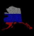 alaska map in russian colors vector image