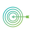 arrow hitting a target business goal concept vector image
