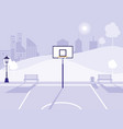 basketball field and park isolated icon vector image