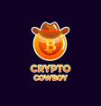 bitcoin cryptocurrency coin icon of virtual vector image vector image