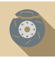 Brake disc icon flat style vector image vector image