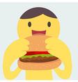 BurgerMan vector image