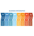 business infographic design for timeline eight vector image vector image