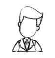 businessman character face male people image vector image vector image