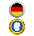 button as a symbol GERMANY vector image vector image