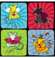 cartoon rats vector image vector image
