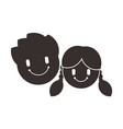 child icon children symbol little boy and girl vector image