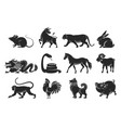 chinese zodiac signs set vector image