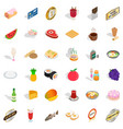 chocolate icons set isometric style vector image vector image