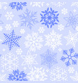 christmas background with different snowflakes vector image