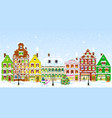 city on the eve of christmas vector image