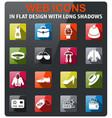 clothes shop icon set vector image vector image
