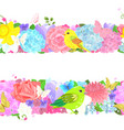 collection of seamless horizontal borders with vector image vector image