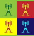 color antenna icon isolated on color backgrounds vector image vector image