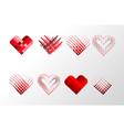 decorative valentines hearts set happy valentine vector image