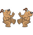 dog dancing vector image vector image