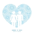 doodle circle water texture couple in love vector image vector image