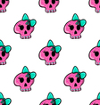 Doodle seamless pattern with skull - 4 vector image vector image